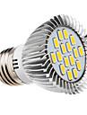 E26/E27 Spot LED 16 diodes électroluminescentes SMD 5730 Blanc Chaud 420-450lm 2500-3500K AC 100-240V