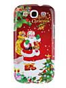 산타 클로스 메리 크리스마스 패턴 삼성 갤럭시 S3 I9300를위한 방어적인 단단한 뒤 케이스 덮개