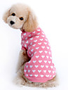 Sweater Dog Clothes Heart Pink Woolen Costume For Pets Girls\' Keep Warm