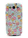 Desenhos animados Donut & Rose Hips padrão TPU IMD Case para Samsung Galaxy S3 I9300 Galaxy