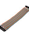 40Pin 1P-1P Female to Female Dupont Line Colorful Dupont Wire(30CM)