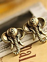 Vintage Gold Silver-Plated Stud Earrings