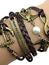Fashion 7Cm Women'S Coffee Fabric Wrap Bracelet(Coffee)(1 Pc)