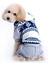 애완 동물 개를위한 까마귀 바지 따뜻한 눈송이 패턴 코트 (다양한 크기)