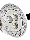 285 lm Lampada de Embutir 3 leds LED de Alta Potencia Branco Frio AC 85-265V