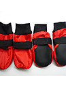 Dog Shoes & Boots Waterproof Winter Spring/Fall Solid Red Blue Mixed Material