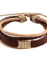 Café pulseira de couro de couro dos homens 5,4 centímetros Punk (1 Pc)
