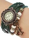 Женские Часы-браслет Повседневные часы Часы Дерево Кварцевый Группа Цветы Богемные Черный Синий Красный Оранжевый Коричневый Зеленый
