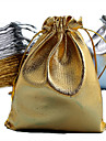 50pcs Gold & Silver 7x9cm Cloth Bag