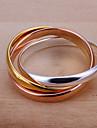 (1 шт) Сладкий женский многоцветный медное кольцо (размер 8 #)