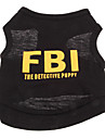 Dog Shirt / T-Shirt Dog Clothes Breathable Holiday Fashion Police/Military Letter & Number Black Yellow Black/Yellow Costume For Pets