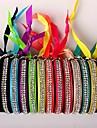 Les deux rangées de diamants bracelet multicolore (12 pcs)
