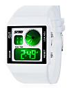 Unisex / 's Kid LED Dial PU Banda Analógica Japaness Quartz Water Resistant Sports Watch Wrist
