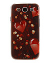 Romantico coracao padrao plastico protetor rigido de volta caso capa para Samsung Galaxy S3 I9300