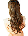 20 Inch Ribbon Tied Synthetic Light Brown Wavy Ponytail Hair Extensions