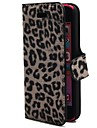 Card Slots and Folded Fashion Design Sexy Leopard Pattern Suitable for iPhone 5C