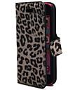 Slots para cartões e dobrado Pattern Design de Moda Sexy Leopard Adequado para iPhone 5C