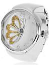 여자의 나비 패턴은 합금 석영 아날로그 반지 시계 (분류 된 색깔)