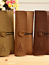 One Eiffel Tower Pattern Cashmere Leather Card Holder Case(Random Color)