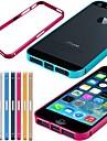 Для Кейс для iPhone 5 Ультратонкий Кейс для Бампер Кейс для Имитация дерева Твердый Металл iPhone SE/5s/5