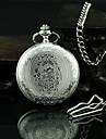 Unisex Vintage Pattern Silver Alloy Quartz Pocket Watch Cool Watch Unique Watch