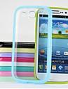 Прозрачный корпус ТПУ пластиковые трудный для Samsung Galaxy S3 / I9300 (разных цветов)