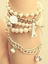 Fahion Women's White Imitation Pearl Eiffel Wrap Bracelet(1 Pc)