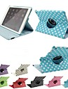 Polka Dot 360 Degree Rotating Full Body Stand  Leather Case  for iPad Air (Assorted Colors)