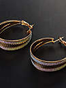 Earring Hoop Earrings Jewelry Women Party / Daily Alloy Silver