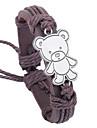 남성용 가죽 포장 팔찌 - 곰 동물 팔찌 제품 파티 일상 캐쥬얼 스포츠