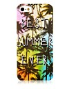 Coconut Tree Pattern Silicone Soft Case for iPhone5/5S