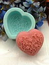 1pc Eco-Friendly For Cake / For Cookie Silicone Baking Mold Heart Shape