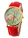 Women\'s Quartz Wrist Watch Casual Watch PU Band Flower Fashion Black White Red Brown Green Rose Rose Gold