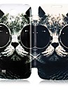 Monocle Cat Leather Full Body Case for Samsung Galaxy S4 Mini I9190