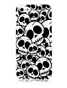 Cross Bones Pattern Silicone Soft Case for iPhone4/4S