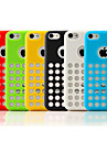 Dot Hollow-Out Solid Color Soft Back Case for iPhone 5C(Assorted Color)