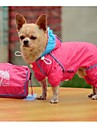 Nouveau double-épaisseur de maille de PVC de mode à quatre pattes coupe-vent Rraincoat pour Animaux Chiens (Assorted Taille, couleurs assorties)