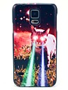 Growing Eye Cat Pattern Hard Case Cover for Samsung Galaxy S5 I9600