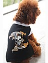 Cachorro Camiseta Roupas para Caes Caveiras Preto Ocasioes Especiais Para animais de estimacao
