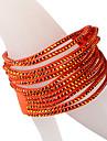 Five Rows Orange Diamond Bracelet Twice