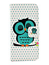 Case For iPhone 5 / Apple iPhone 5 Case Card Holder / with Stand Full Body Cases Owl Hard PU Leather for iPhone SE / 5s / iPhone 5