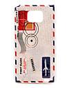 Padrão Retro Envelope Hard Case para Samsung Galaxy S2 I9100