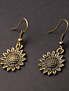 Cute Sunflower Copper Earrings(1 Pair)