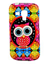 Diamond Puzzle Owl Cartoon Pattern TPU Soft Case for Samsung Galaxy Trend Duos S7562/S7560
