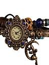 Women's Vintage Style Moon Angel Pendant Leather Band Quartz Bracelet Watch Cool Watches Unique Watches