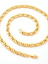 U7® 18K Chunky Gold Filled Necklaces Yellow Gold Plated Figaro Chains High Quality Jewellery For Men 6MM 50CM