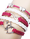 Women's Wrap Bracelet Fabric Alloy LOVE Infinity Jewelry Daily