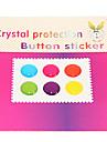 doce cor Joyland puro botão de adesivo para iphone / ipad / itouch (6 pack)