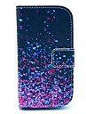 카드 슬롯과 삼성 갤럭시 S3 미니 I8190를위한 대를 가진 다이아몬드 조각 패턴 PU 가죽 케이스