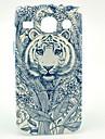 Cas dur de tatouage de fleur Tiger Pattern pour Samsung Galaxy I8262 base